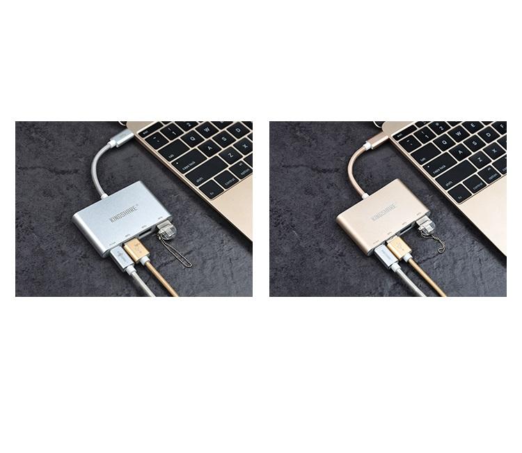 Cáp chuyển đổi Kingshare USB Type C To USB 3.0x3 / Type C - Hàng Nhập Khẩu