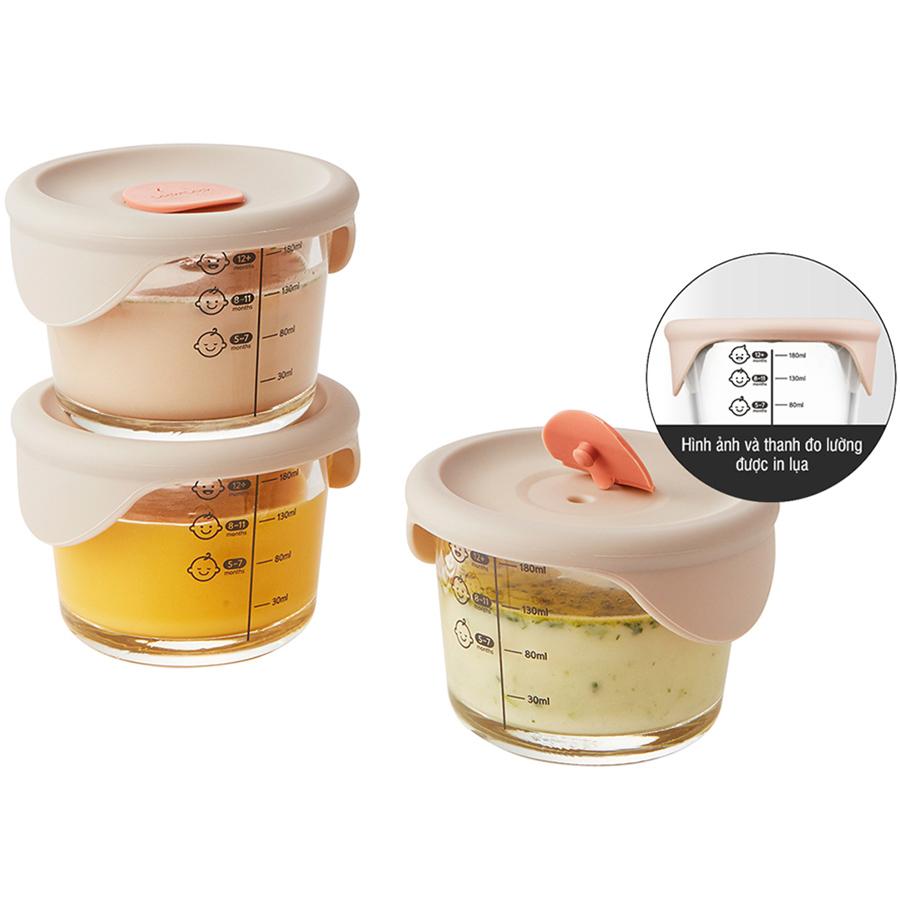 Hộp đựng thức ăn cho bé Lock&Lock có vạch chia 230ml x 3 hộp LLG508S3