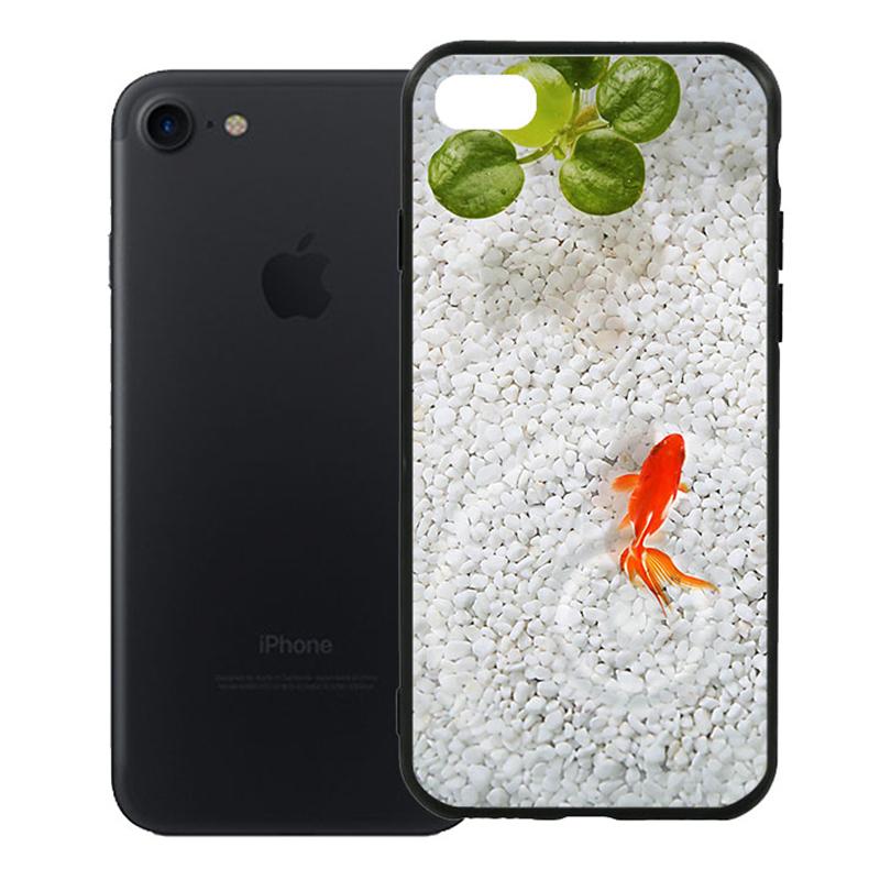 Ốp Lưng Viền TPU Cao Cấp Cho iPhone 7 - Cá Koi 01