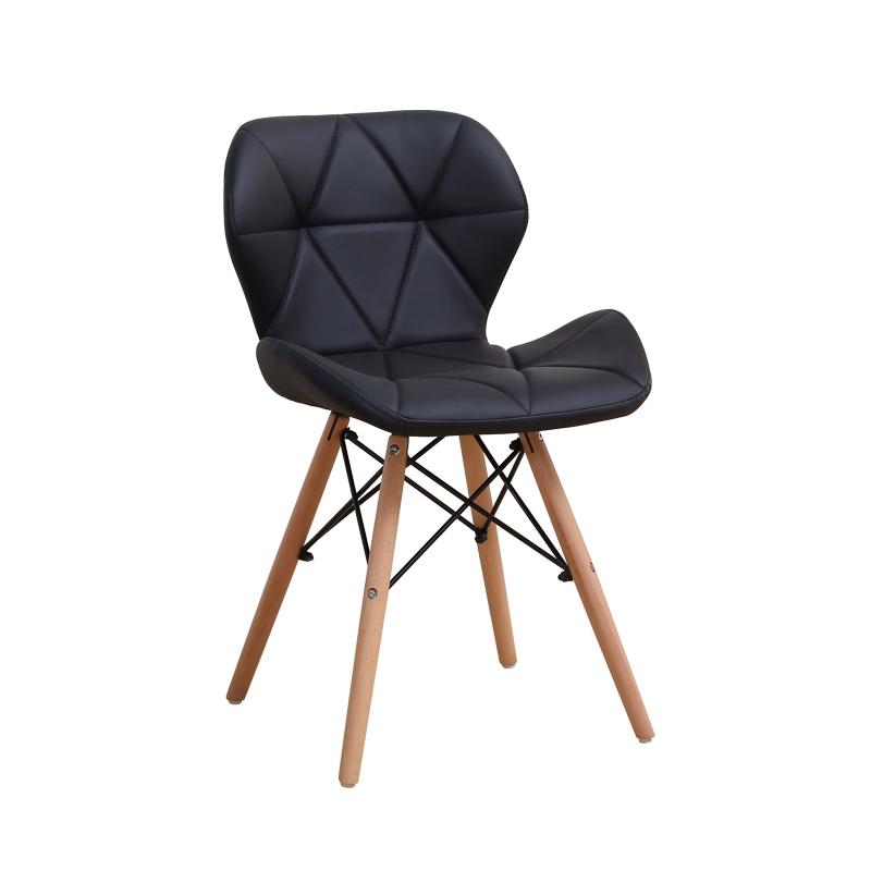 Ghế nệm may viền chân giả gỗ cao cấp GXG016(đen)