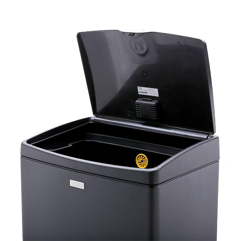 Thùng rác Fitis inox Mega nhấn 40 lít - STL2-903 - đen