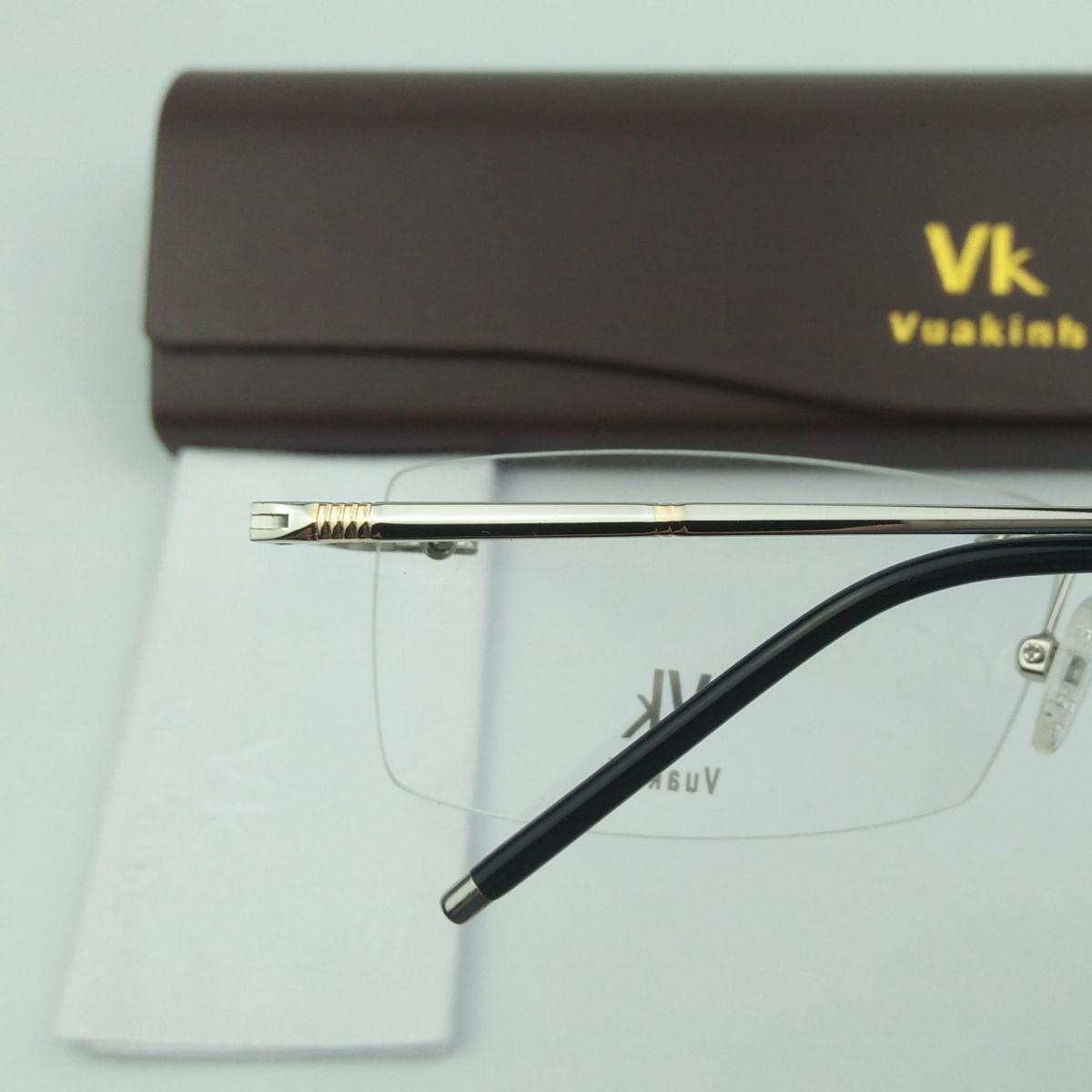 Gọng kính cận không viền phong cách cổ điển VK-32