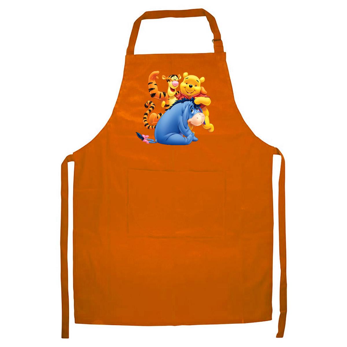 Tạp Dề Làm Bếp In Hình Gấu Vàng Và Những Người Bạn - Mẫu008