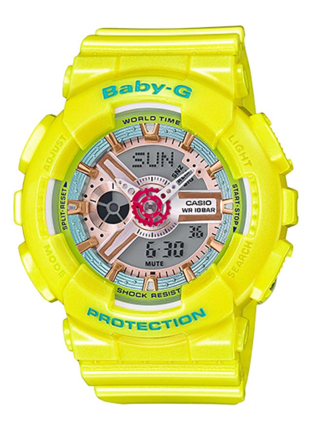 Đồng Hồ Nữ Dây Nhựa Casio BABY-G BA-110CA-9A - Vàng