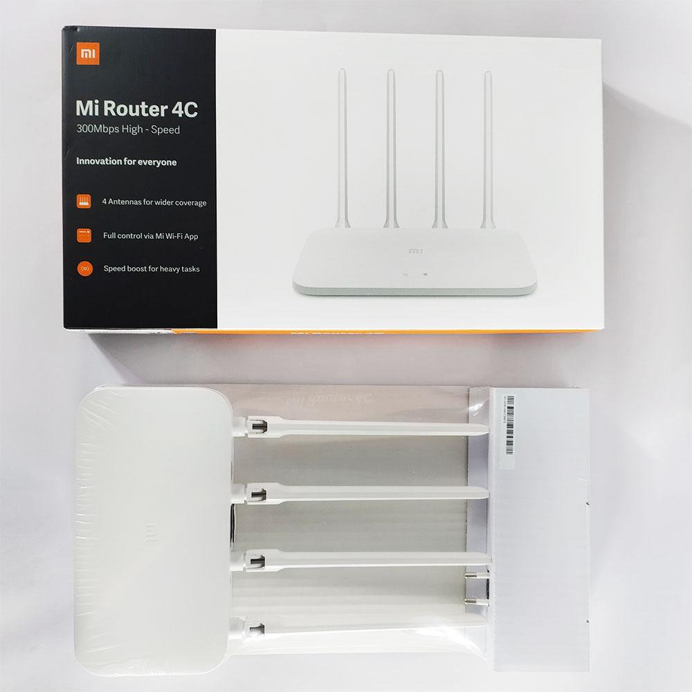 Bộ Phát Wifi Xiaomi Mi Router 4C, 4 Anten, RAM 64MB, 300MBPS - Hàng Chính Hãng