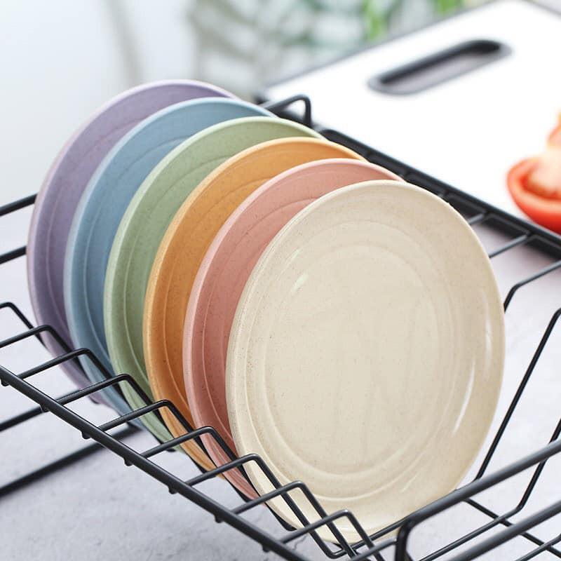 Bộ 6 dĩa lúa mạch mix 6 màu pastel ngọt ngào