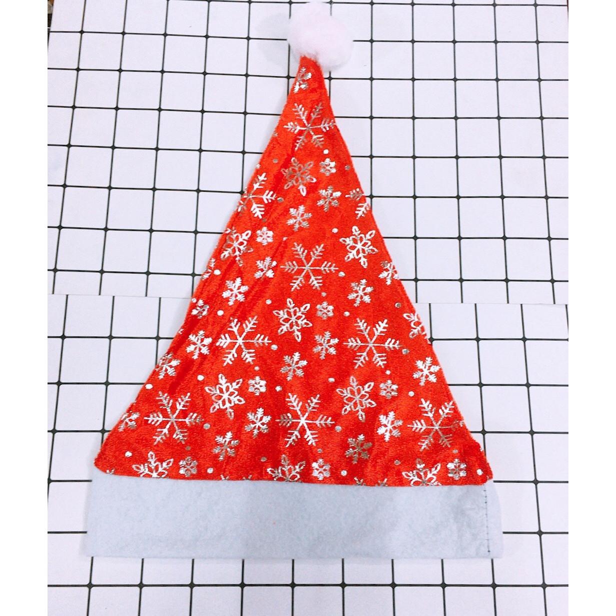 Mũ ông già Noel Giáng Sinh bông tuyết 5 mũ