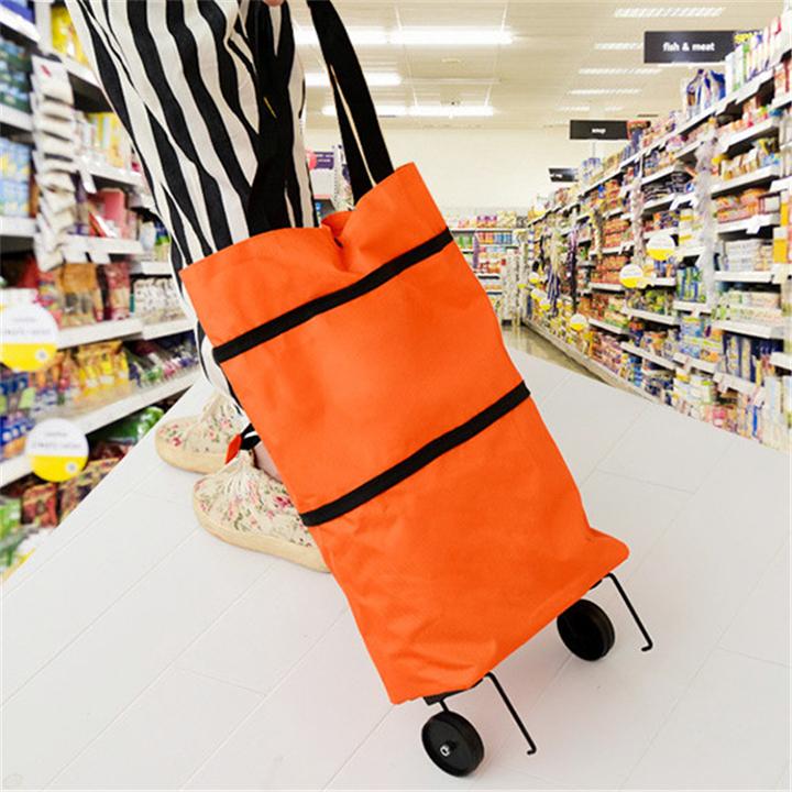 Túi Xách Đi Chợ Tiện Dụng Chất Liệu Vải Chống Thấm Kết Hợp 3 In 1 Giảm Tải Sử Dụng Túi Nilong