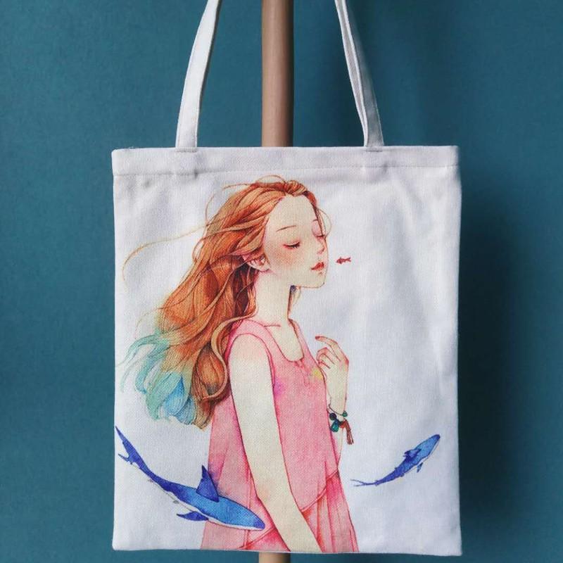 Túi tote vải nữ đeo vai sáng tạo dễ thương nhiều mẫu cực đẹp