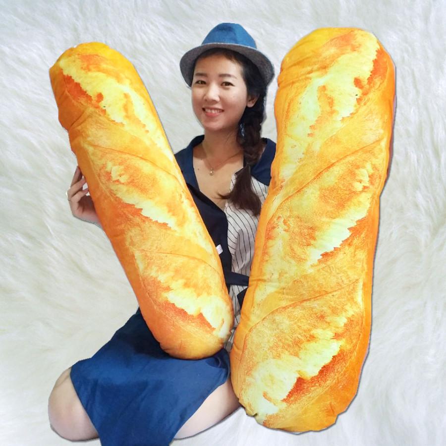 Gối Ôm Bánh Mỳ 3D (80cm)