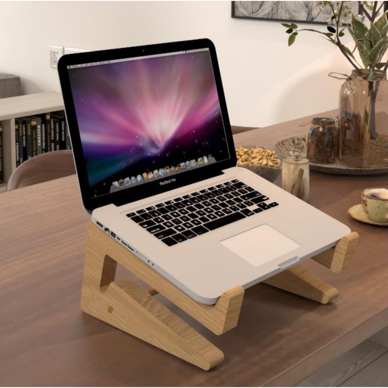 kệ gỗ để bàn máy tính xách tay gỗ loại cao