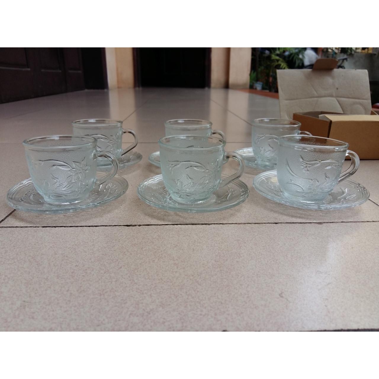 Bộ tách uống trà, cafe hoa lan_6