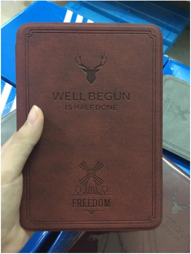 Combo Máy Đọc Sách Kindle Paperwhite 4 Gen 10 (8GB - Màu Đen - Hàng nhập khẩu) và Bao Da WELL BEGUN