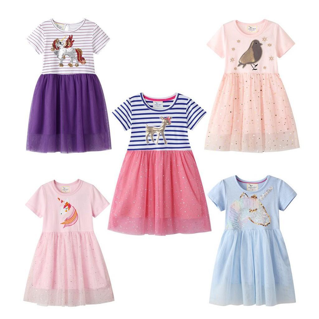 Váy bé gái, váy công chúa cho bé, đầm ngắn tay cho bé, váy ren cho bé, chất cotton mềm, mịn,mát