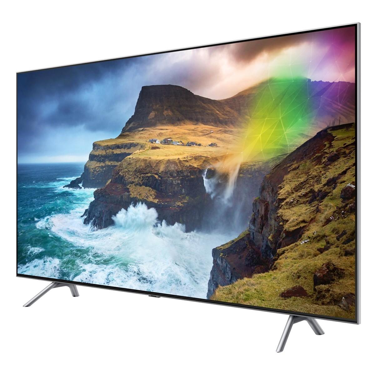 Smart Tivi QLED Samsung 55 inch 4K UHD QA55Q75RAKXXV - Hàng chính hãng + Tặng Khung Treo Cố Định