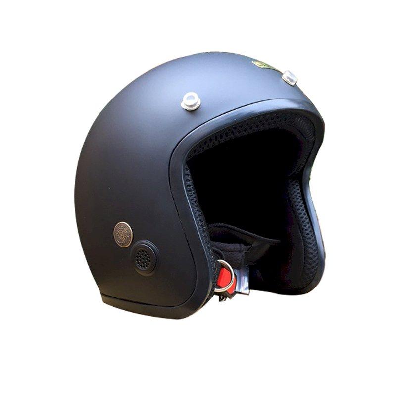 Mũ Bảo Hiểm 3/4 Napoli SH (Size L) - Đen Lót Đen