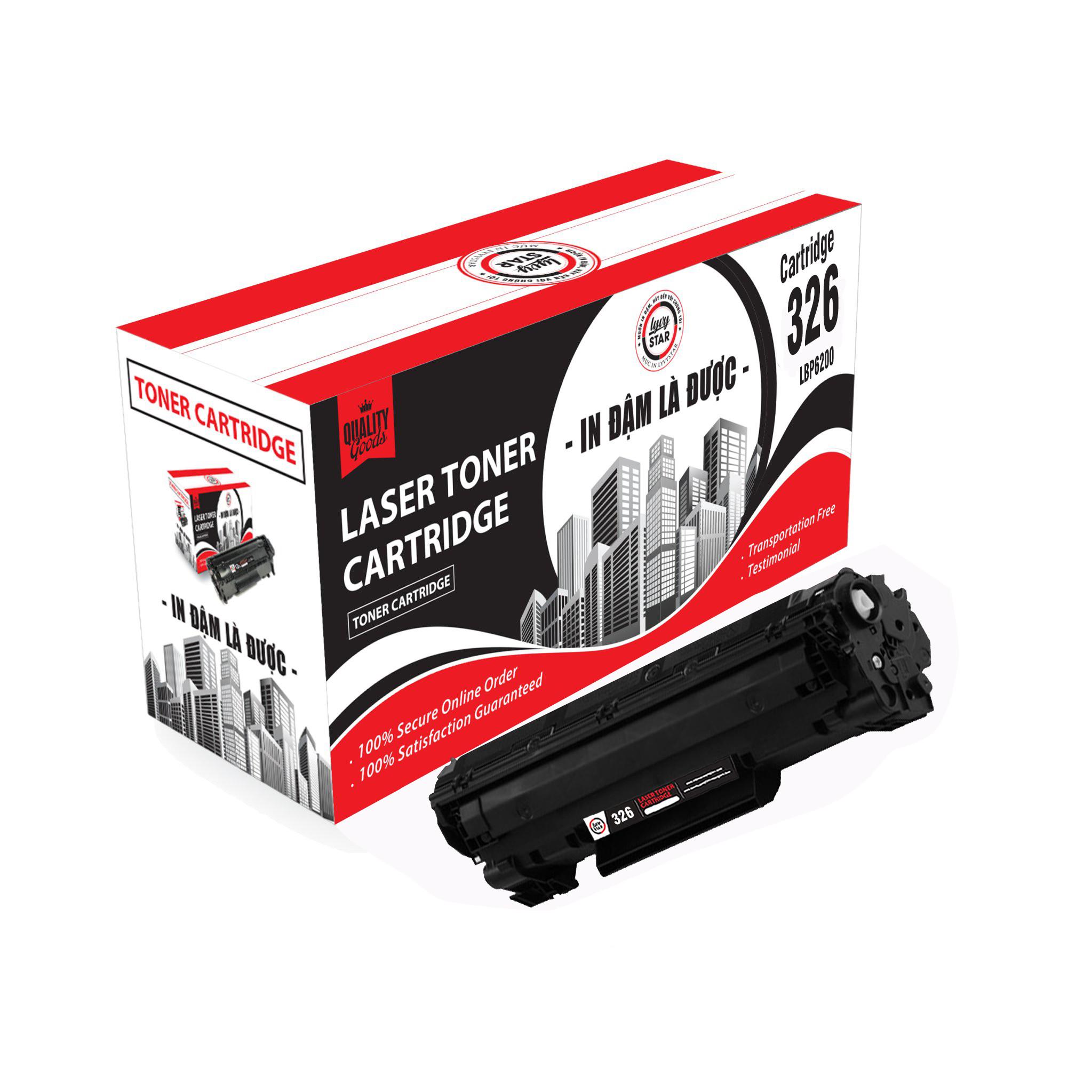 Hộp mực in Lyvystar 326 (toner cartridge 326) sử dụng máy in Canon LBP 6200D - Hàng chính hãng