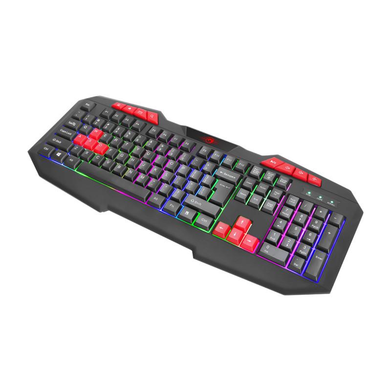 Bàn phím game Marvo K602 led đa màu - hỗ trợ 8 phím multimedia (Đen) hàng chính hãng
