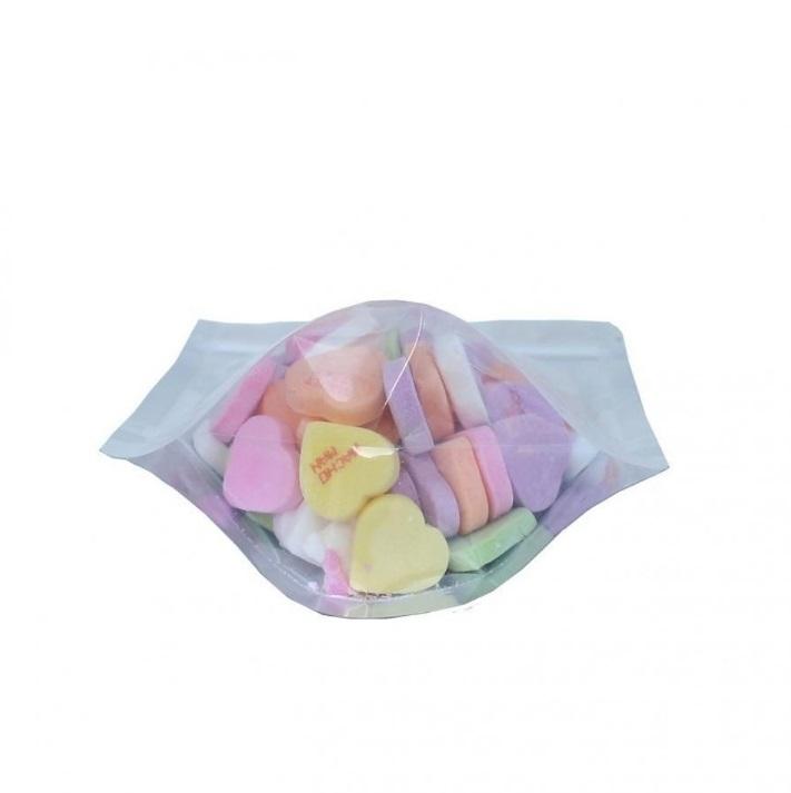Túi zipper đáy đứng 1 mặt trong 1 mặt bạc size 18x26 (1kg)