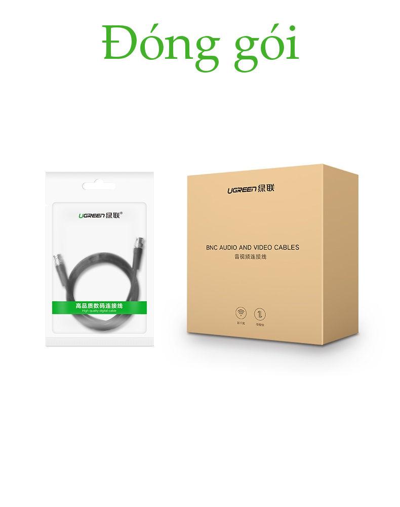 Dây cáp tín hiệu SDI dùng để kết nối với các thiết bị video chuyển nghiệp như Máy quay, camera UGREEN SP103 50926 - Hàng Chính Hãng