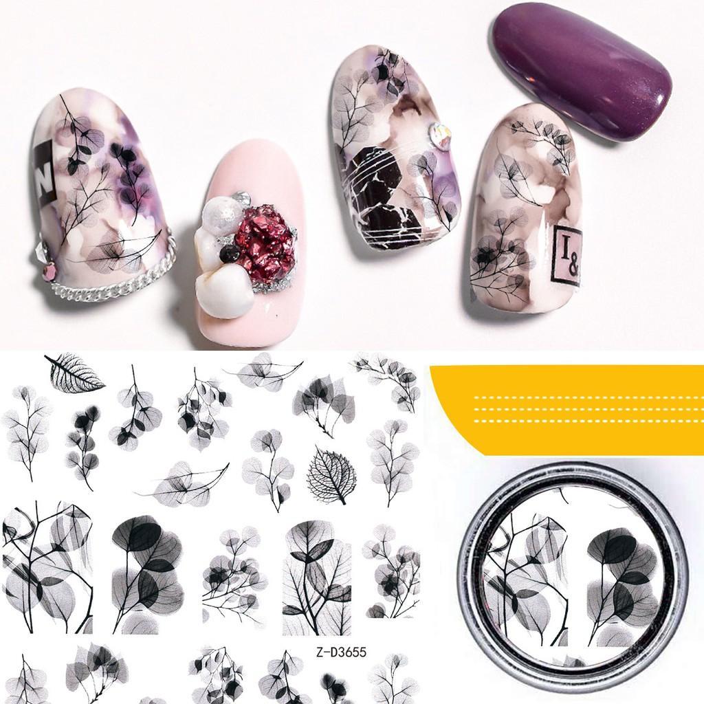 Sticker nails hoa - hình dán móng 3D 3655