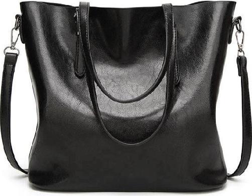 Túi xách tay nữ công sở da bò mẫu 2019, kích thước 32x29x12cm - Đen