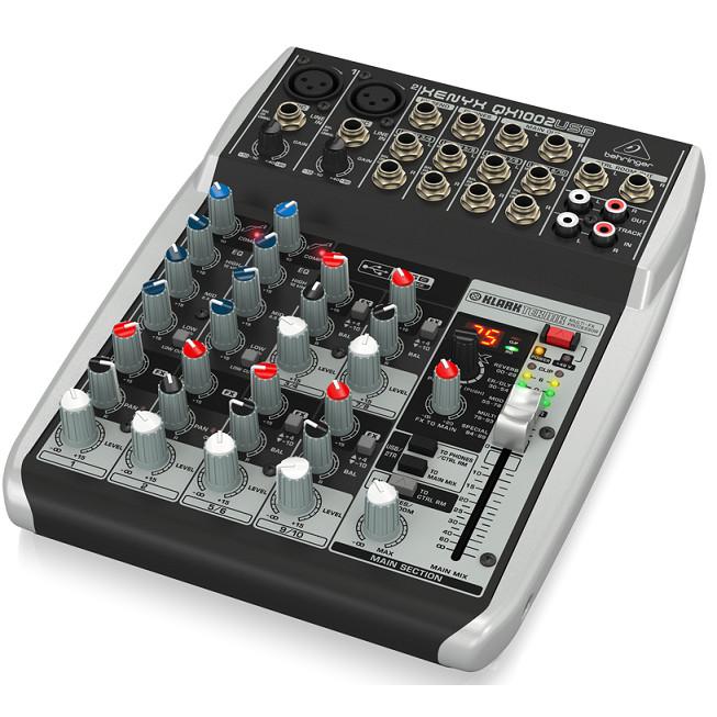 Bộ trộn âm thanh BEHRINGER ANALOG MIXER QX1002USB- Hàng chính hãng
