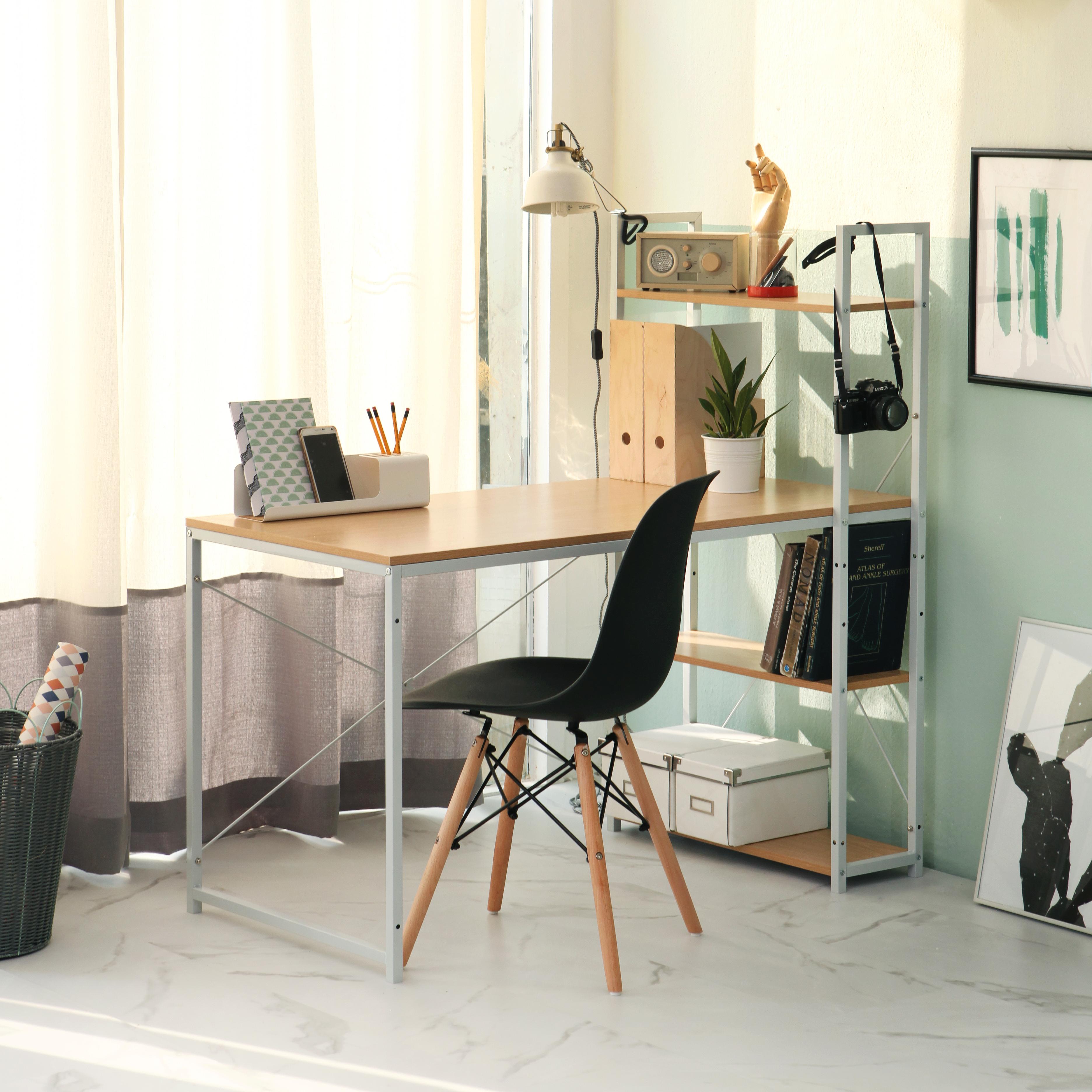 Bộ 4 ghế eames, ghế phòng ăn, ghế làm việc màu đen GA01
