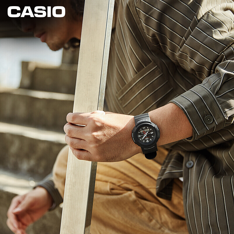 Đồng hồ nam dây nhựa Casio G-Shock chính hãng AW-500E-1EDR (47mm)