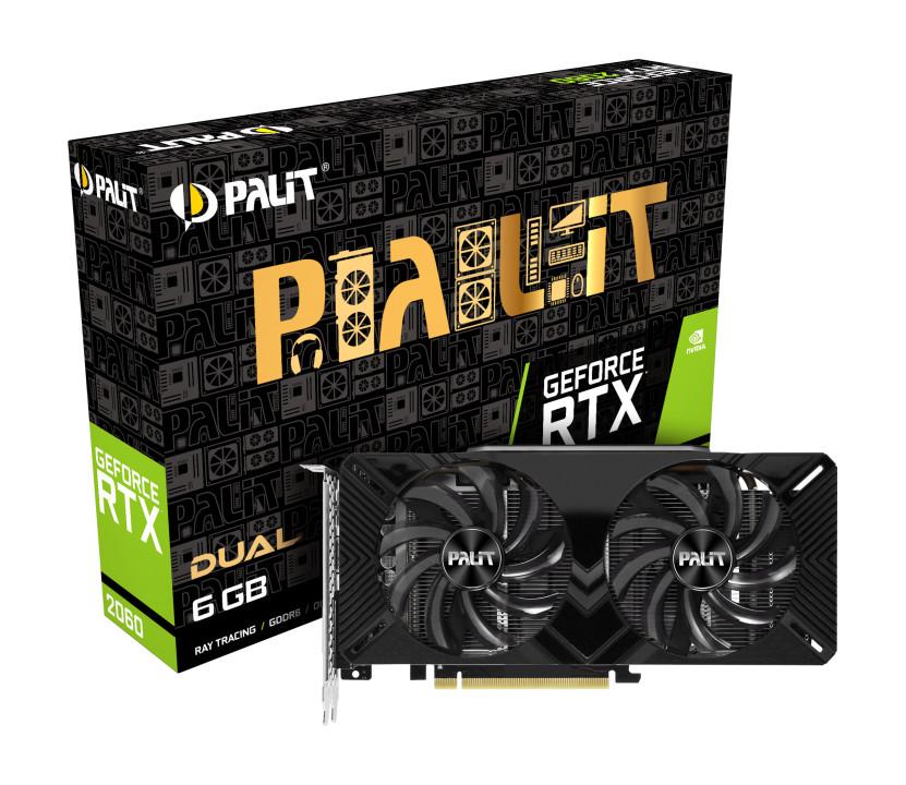Card đồ họa VGA Palit GeForce RTX 2060 Dual NE62060018J9-1160A-1 - Hàng Chính Hãng