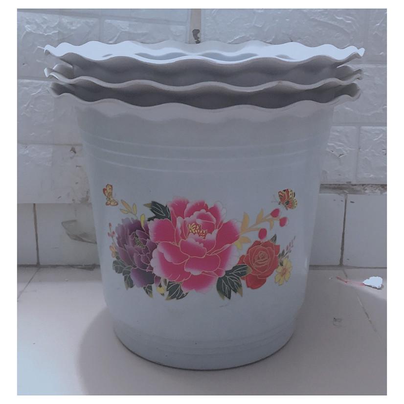 3 Chậu Nhựa Trồng Hoa, Cây Cảnh Hình Tròn BB 320x270 CN