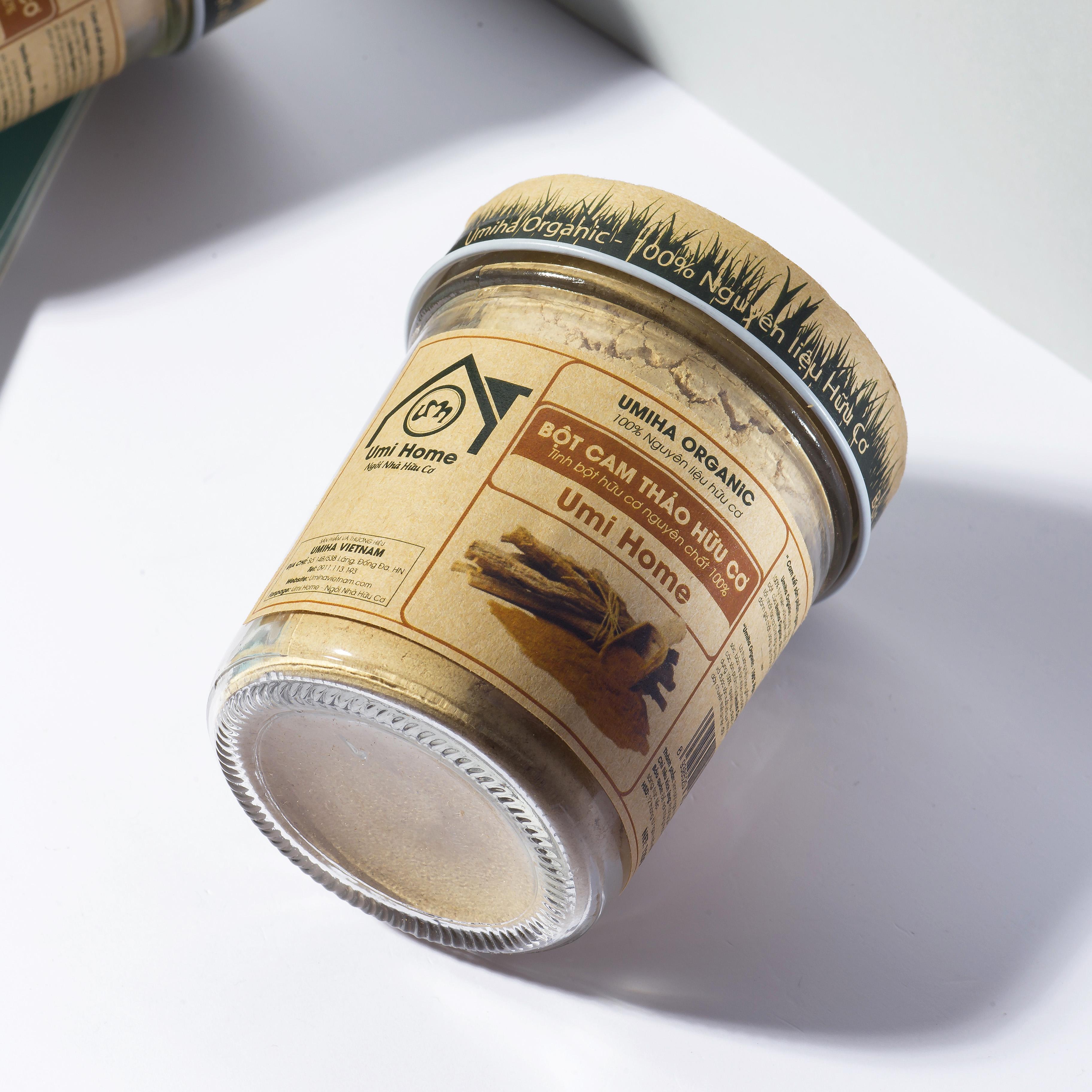 Combo dưỡng da gồm Tinh Dầu Oải Hương 10ml và Bột Cam Thảo 125g UMIHOME hữu cơ - Tặng dầu hạt Nho 10ml - Làm sạch da, se khít lỗ chân lông, dưỡng da hiệu quả