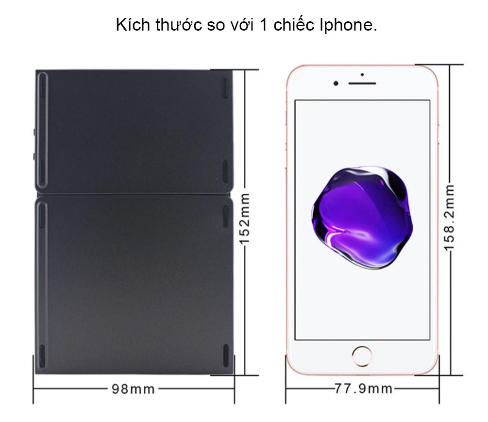 Bàn Phím Bluetooth có mặt di chuột cho Laptop tablet điện thoại AB033