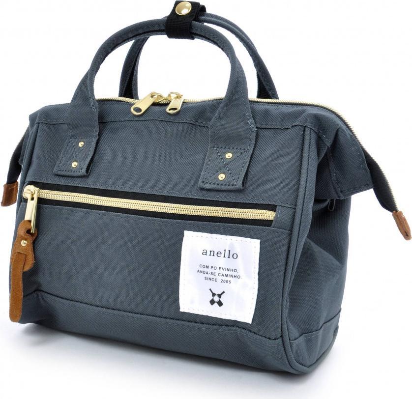 Túi đeo chéo ANELLO đeo 2 kiểu cỡ nhỏ AT-H0851 - Màu Xanh Xám