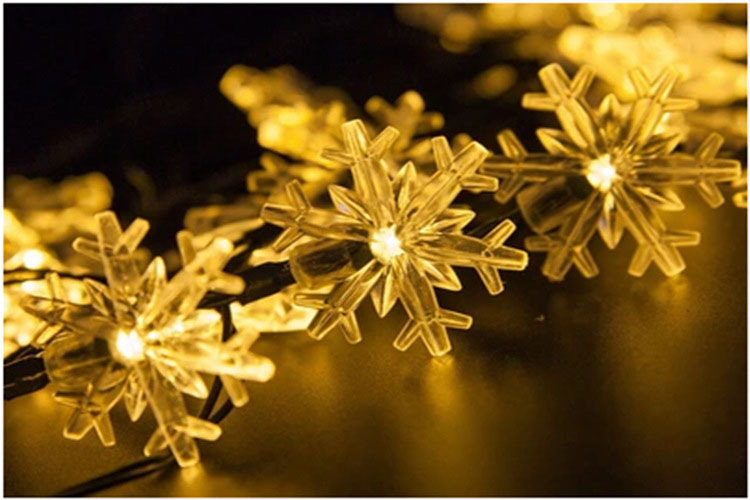 Đèn trang trí năng lương mặt trời chống nước hạt tuyết