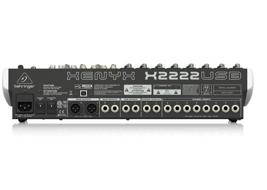 BEHRINGER ANALOG MIXER QX2222USB - Hàng chính hãng