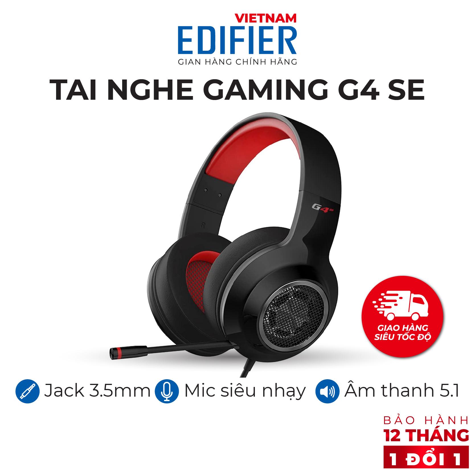 Tai nghe gaming âm thanh 5.1 EDIFIER G4 SE Kèm Mic đàm thoại Khử tiếng ồn - Hàng chính hãng Bảo hành 12 tháng 1 đổi 1