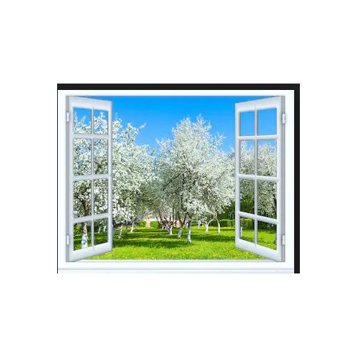 Tranh dán tường cửa sổ 3D   Tranh trang trí 3D   Tranh phong cảnh đẹp 3D   T3DMN_T6_454