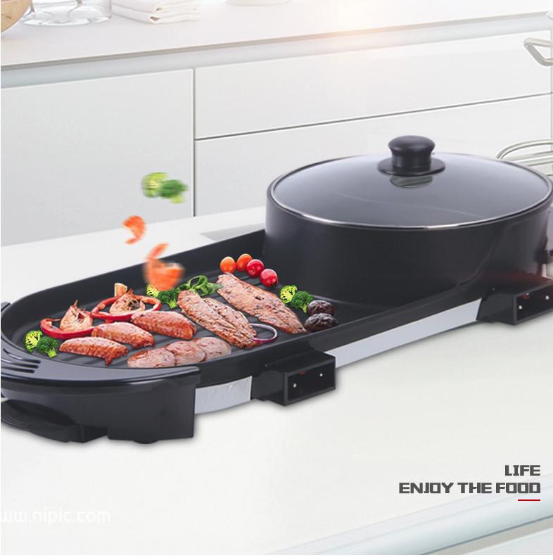 Bếp lẩu nướng điện 2 lò độc lập XY-QXZB