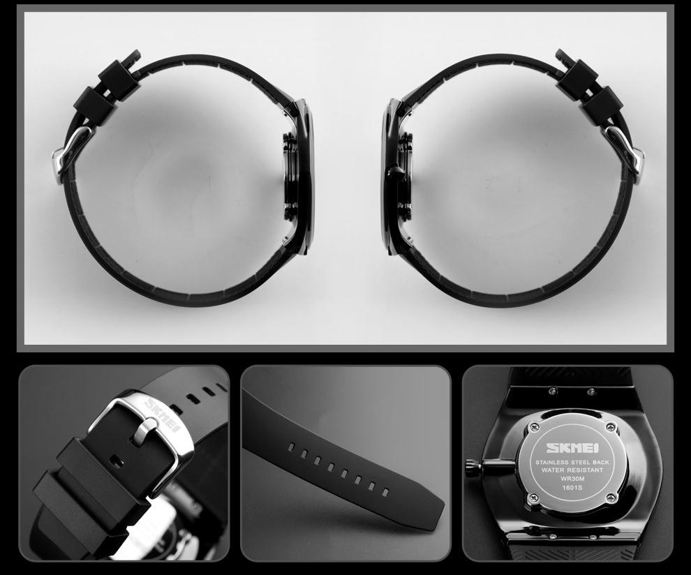 Đồng hồ thời trang kim nam nữ mỏng nhẹ Skmei 1601S