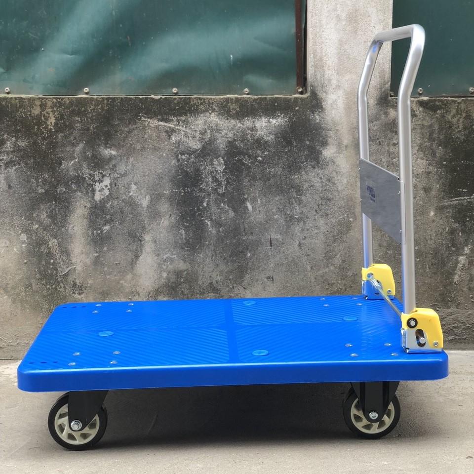 Xe đẩy hàng sàn nhựa tải trọng 150kg