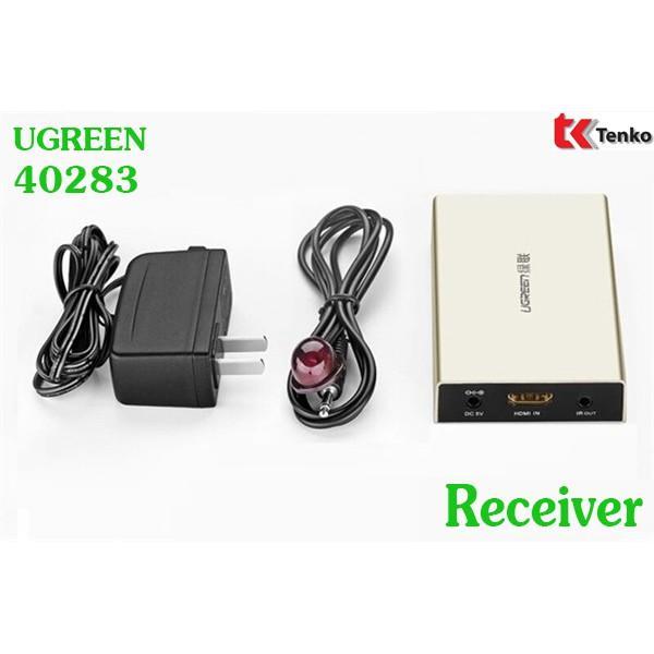 Thiết bị nhận tín hiệu HDMI 120M qua cáp mạng RJ45 Cat5e/Cat6 Ugreen UG-40283 (Receiver) - Hàng chính hãng