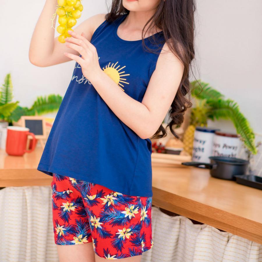 Bộ bầu mặc nhà short SN in hello sunshine Emum