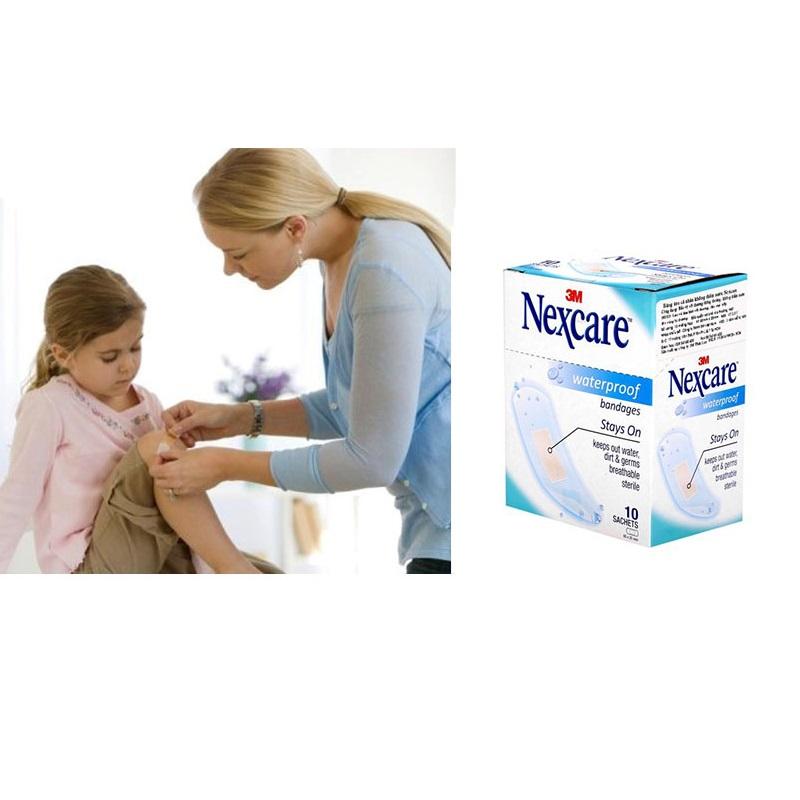 Băng keo cá nhân không thấm nước Nexcare Waterproof (10 gói/hộp)