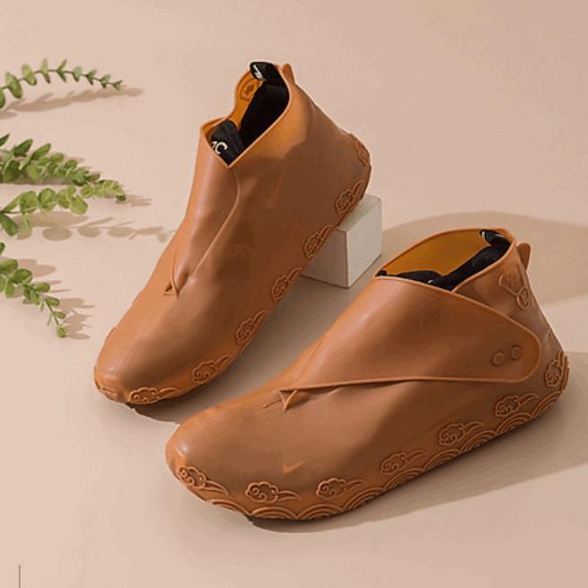 Bọc giày đi mưa size nữ dưới 38 (Nâu Coffee)