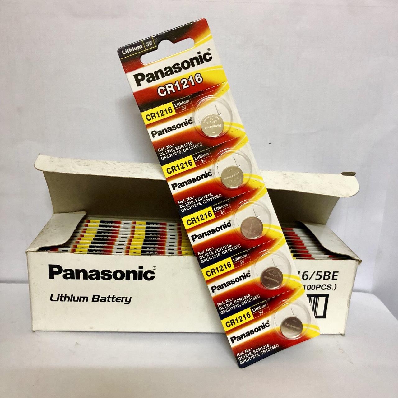 Pin nút Panasonic 3V CR-1216/5BE (Hàng chính hãng)