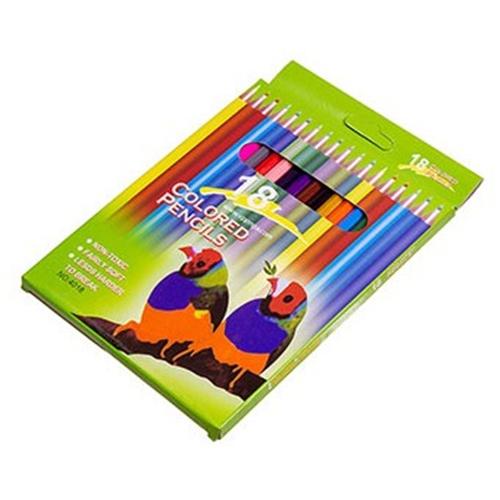 Hộp bút chì màu 18 cây( màu sắc đẹp)