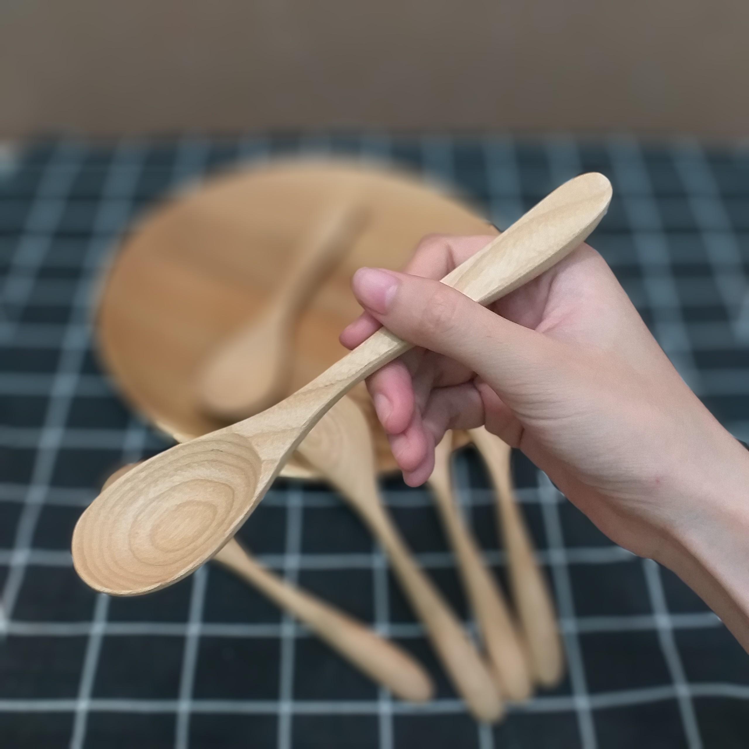 Bộ 6 thìa , muỗng gỗ TẦN BÌ lớn (18cmx4cm) - Đồ Gỗ Bàn Ăn Tiện Dụng (TB6)