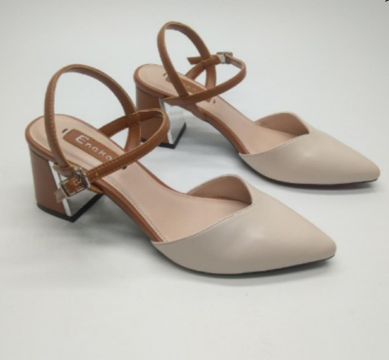 Giày sandals nữ cao gót. dép nữ cao gót  MH13283 màu kem