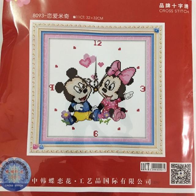 Tranh thêu chữ thập ĐH Chuột Mickey 8093 (32x32cm) chưa thêu